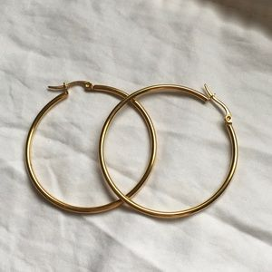 *3 for $15* Gold plated hoop earrings